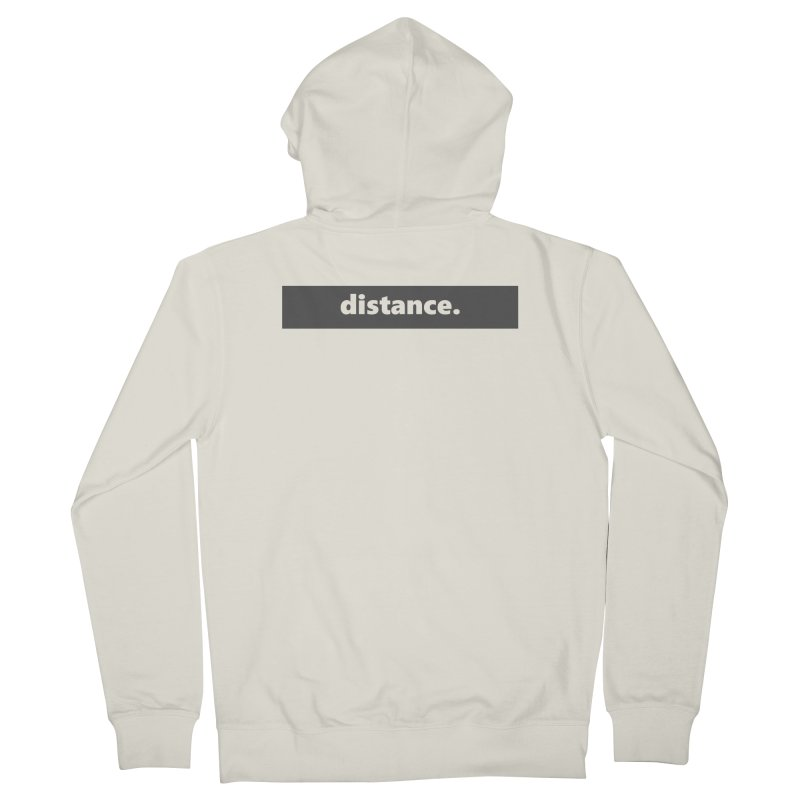 distance.  |  logo  |  dark Women's French Terry Zip-Up Hoody by Extreme Toast's Artist Shop