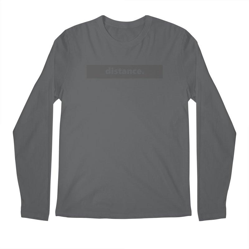 distance.  |  logo  |  dark Men's Regular Longsleeve T-Shirt by