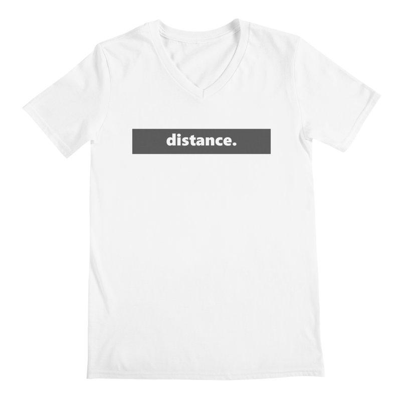 distance.  |  logo  |  dark Men's V-Neck by Extreme Toast's Artist Shop