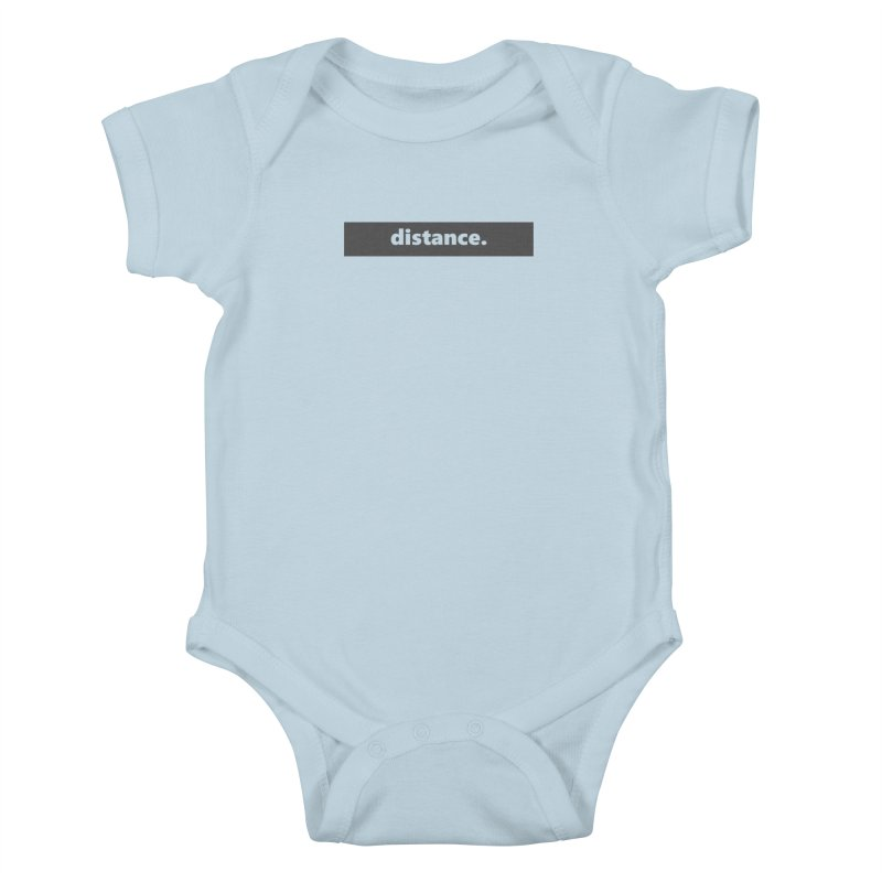 distance.  |  logo  |  dark Kids Baby Bodysuit by