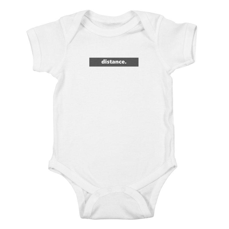 distance.  |  logo  |  dark Kids Baby Bodysuit by Extreme Toast's Artist Shop