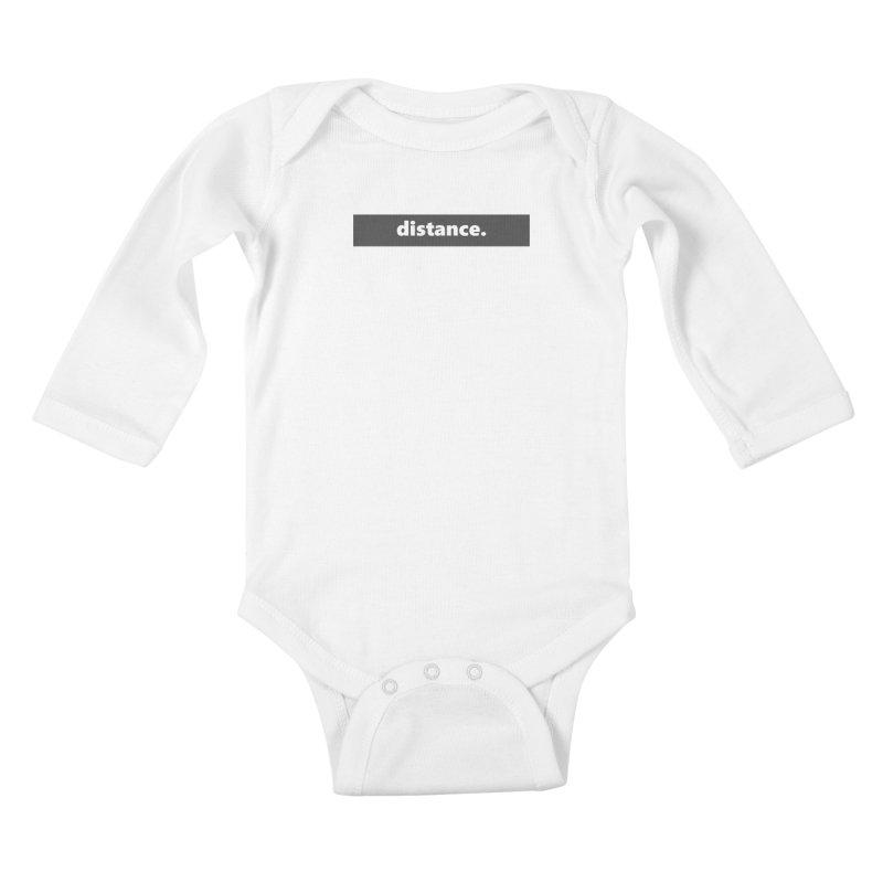 distance.  |  logo  |  dark Kids Baby Longsleeve Bodysuit by