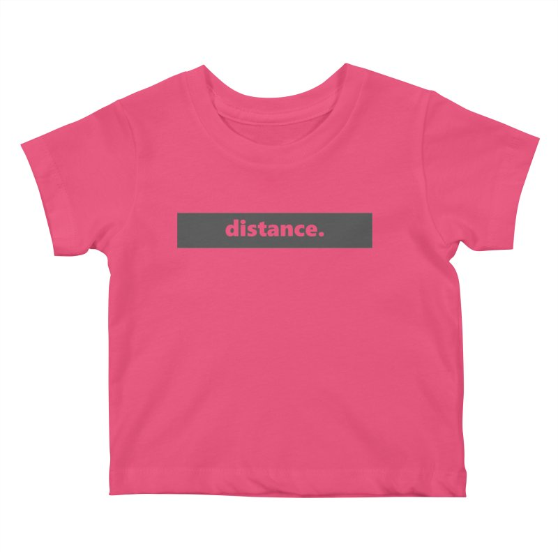 distance.  |  logo  |  dark Kids Baby T-Shirt by