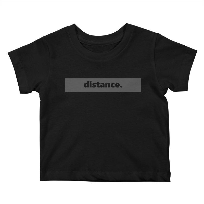 distance.  |  logo  |  dark Kids Baby T-Shirt by Extreme Toast's Artist Shop