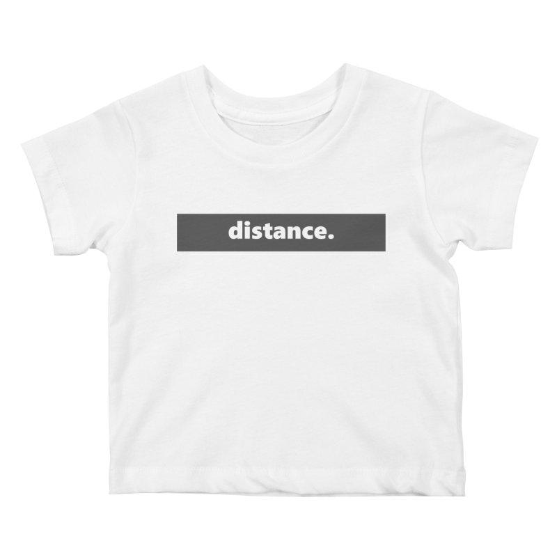 distance.  |  logo  |  dark Kids Baby T-Shirt by