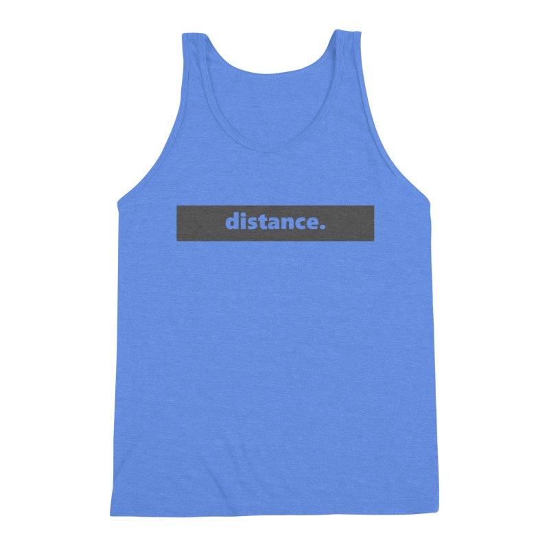 distance.     logo     dark Men's Triblend Tank by Extreme Toast's Artist Shop