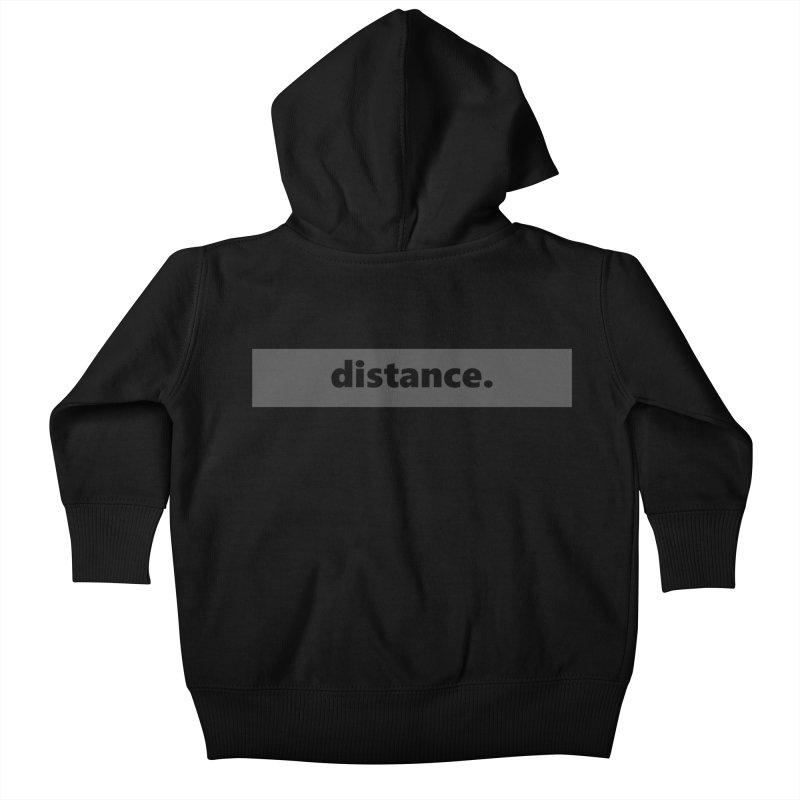 distance.     logo     dark Kids Baby Zip-Up Hoody by