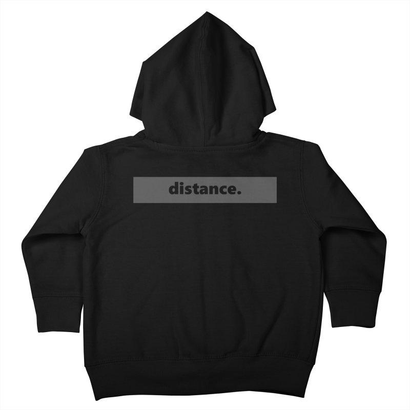 distance.     logo     dark Kids Toddler Zip-Up Hoody by Extreme Toast's Artist Shop