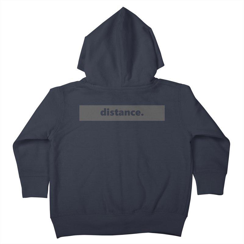 distance.  |  logo  |  dark Kids Toddler Zip-Up Hoody by