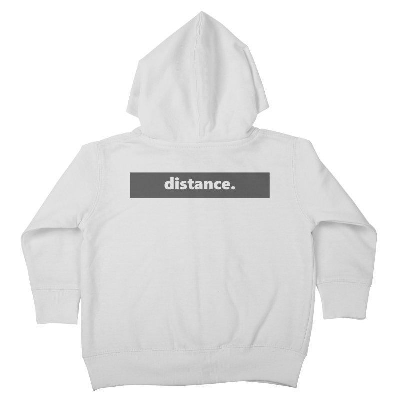 distance.     logo     dark Kids Toddler Zip-Up Hoody by