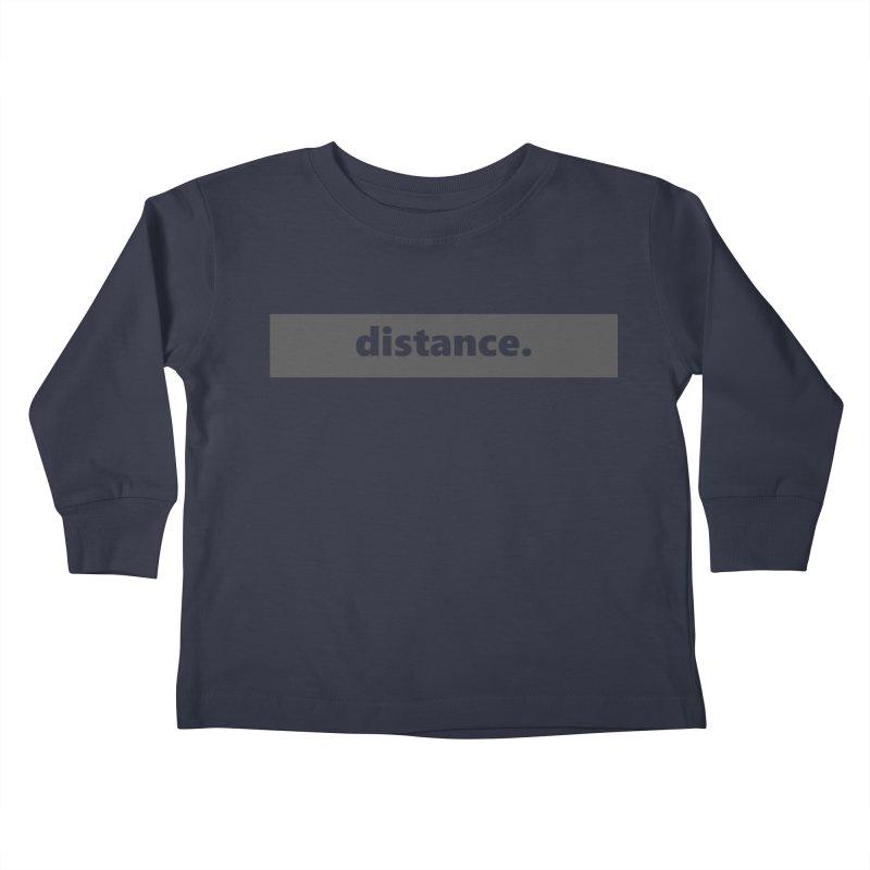 distance.     logo     dark Kids Toddler Longsleeve T-Shirt by