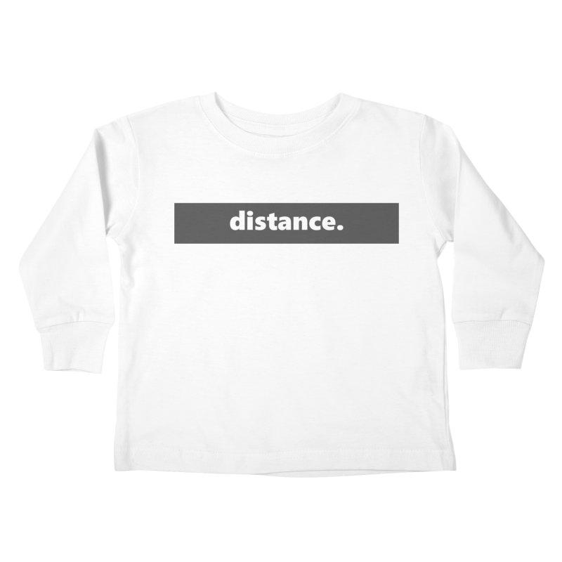 distance.  |  logo  |  dark Kids Toddler Longsleeve T-Shirt by Extreme Toast's Artist Shop