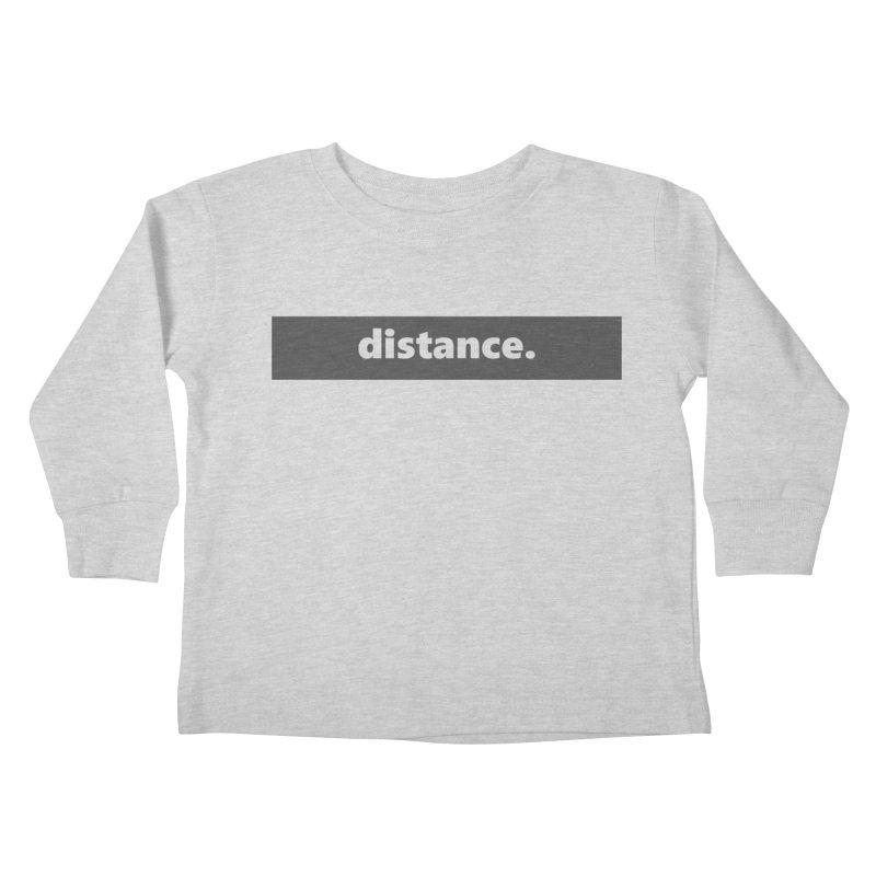 distance.     logo     dark Kids Toddler Longsleeve T-Shirt by Extreme Toast's Artist Shop