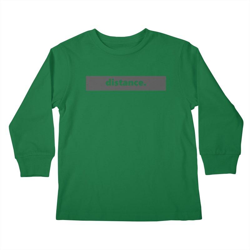 distance.  |  logo  |  dark Kids Longsleeve T-Shirt by
