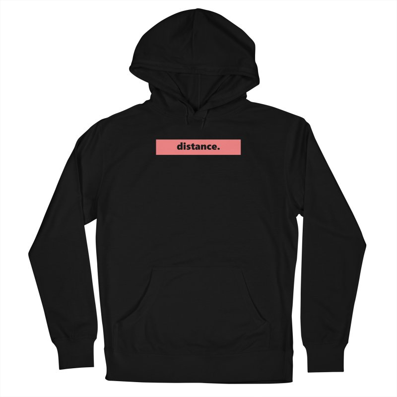 distance.     logo     light Men's French Terry Pullover Hoody by Extreme Toast's Artist Shop