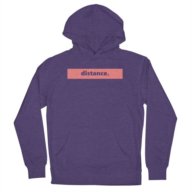 distance.     logo     light Women's French Terry Pullover Hoody by Extreme Toast's Artist Shop