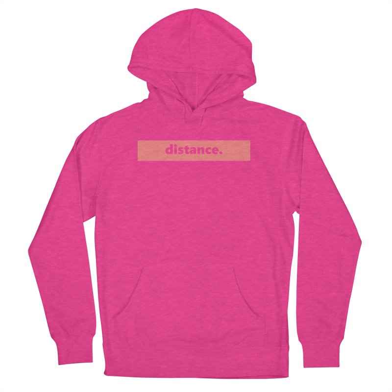distance.  |  logo  |  light Women's French Terry Pullover Hoody by