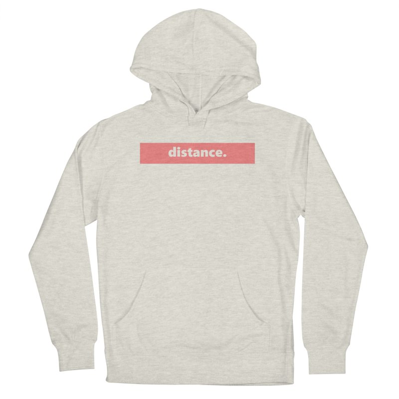distance.  |  logo  |  light Men's French Terry Pullover Hoody by