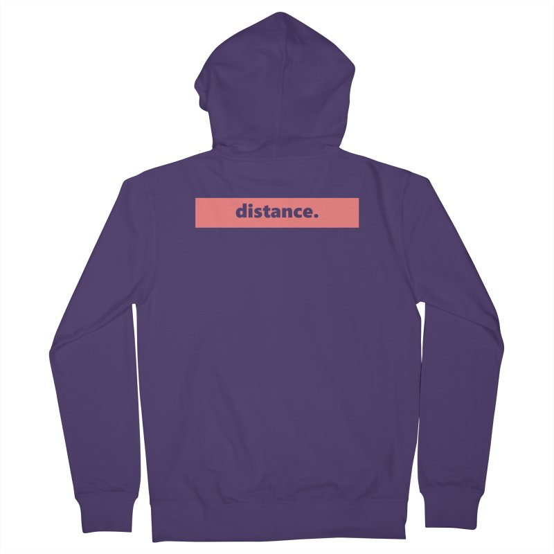 distance.  |  logo  |  light Women's French Terry Zip-Up Hoody by Extreme Toast's Artist Shop