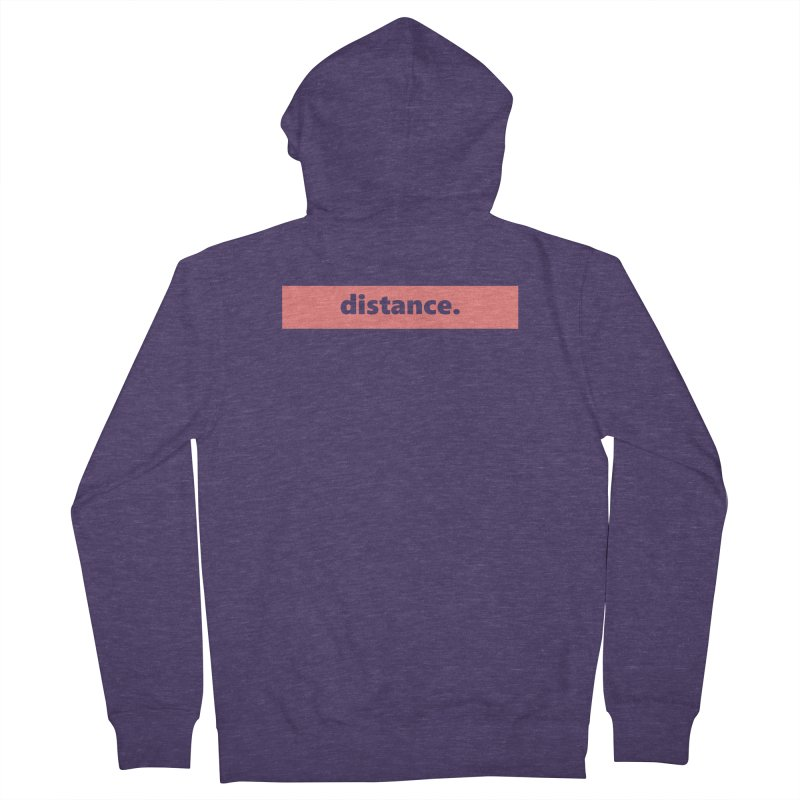 distance.  |  logo  |  light Men's French Terry Zip-Up Hoody by Extreme Toast's Artist Shop