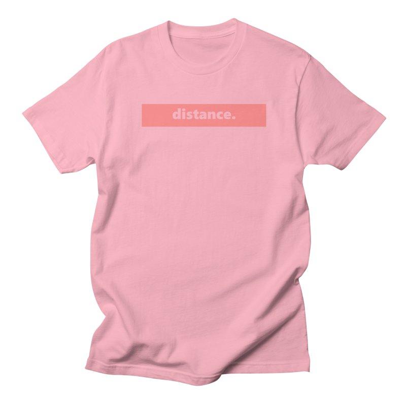 distance.  |  logo  |  light Men's Regular T-Shirt by