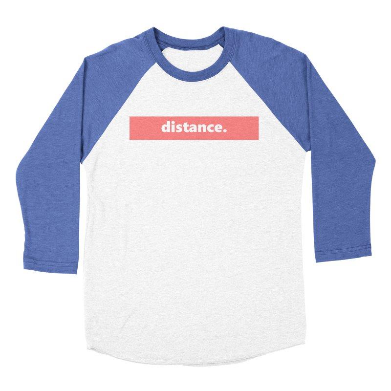 distance.  |  logo  |  light Women's Baseball Triblend Longsleeve T-Shirt by