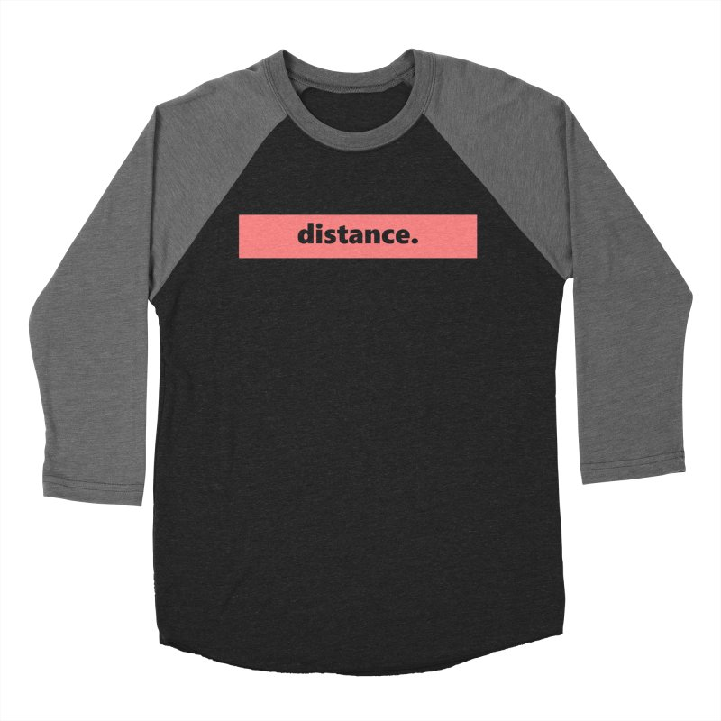 distance.  |  logo  |  light Men's Baseball Triblend Longsleeve T-Shirt by