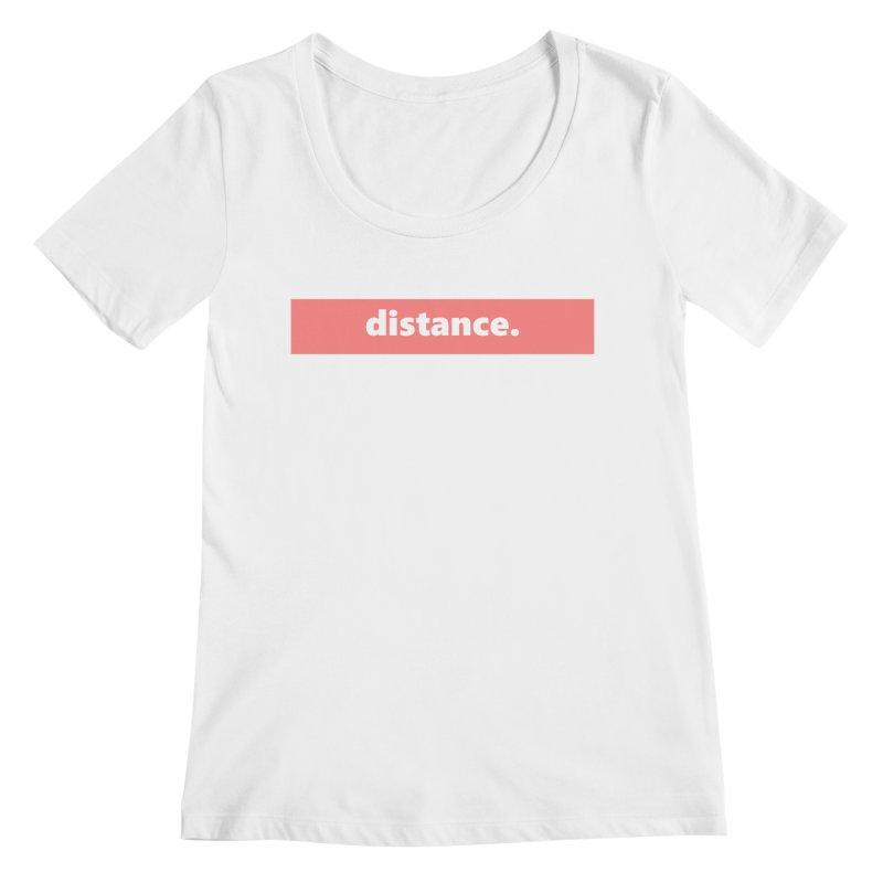 distance.  |  logo  |  light Women's Regular Scoop Neck by