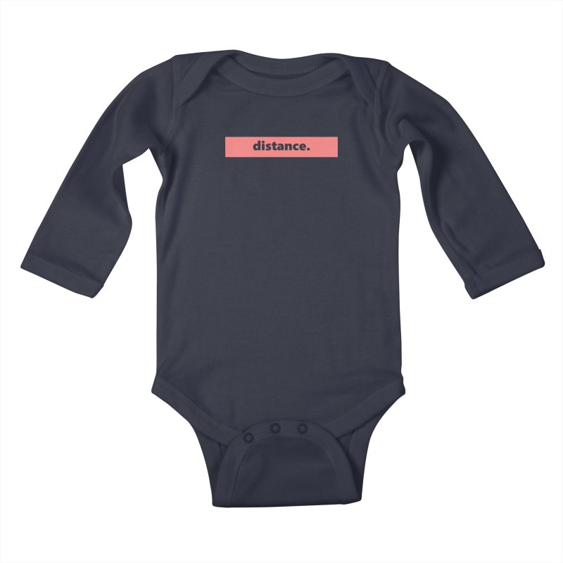 distance.  |  logo  |  light Kids Baby Longsleeve Bodysuit by Extreme Toast's Artist Shop