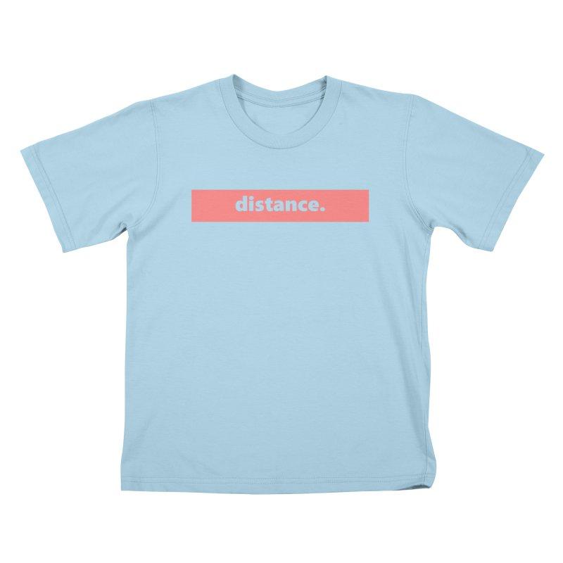distance.  |  logo  |  light Kids T-Shirt by
