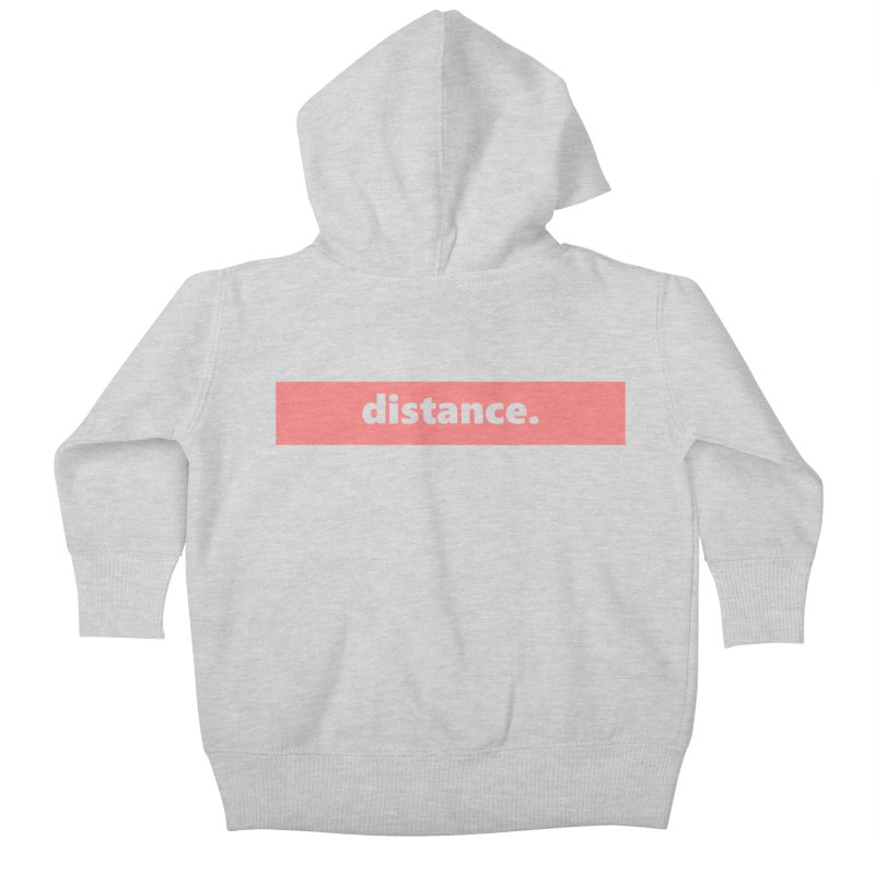 distance.  |  logo  |  light Kids Baby Zip-Up Hoody by