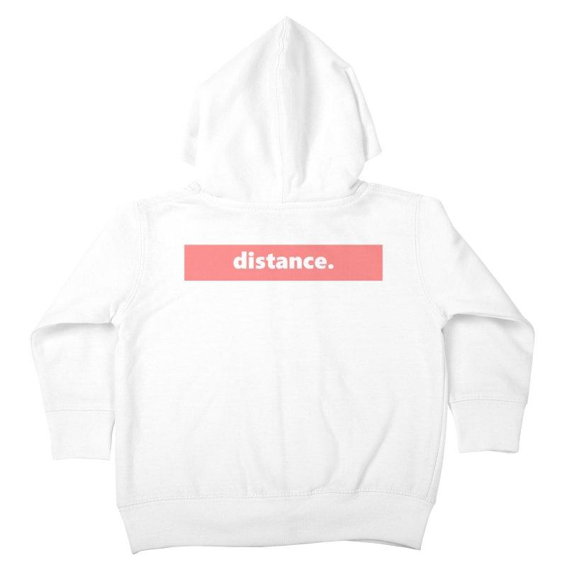distance.  |  logo  |  light Kids Toddler Zip-Up Hoody by