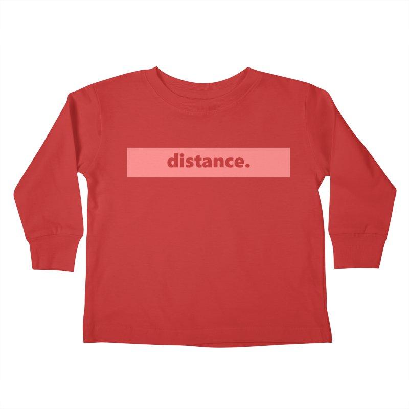 distance.     logo     light Kids Toddler Longsleeve T-Shirt by Extreme Toast's Artist Shop