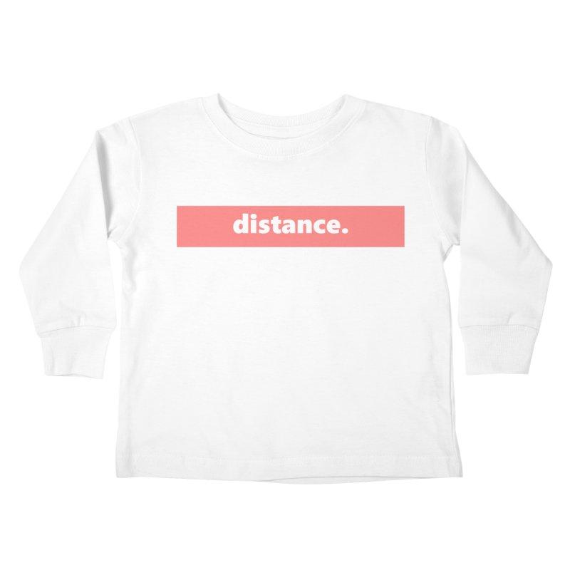 distance.  |  logo  |  light Kids Toddler Longsleeve T-Shirt by