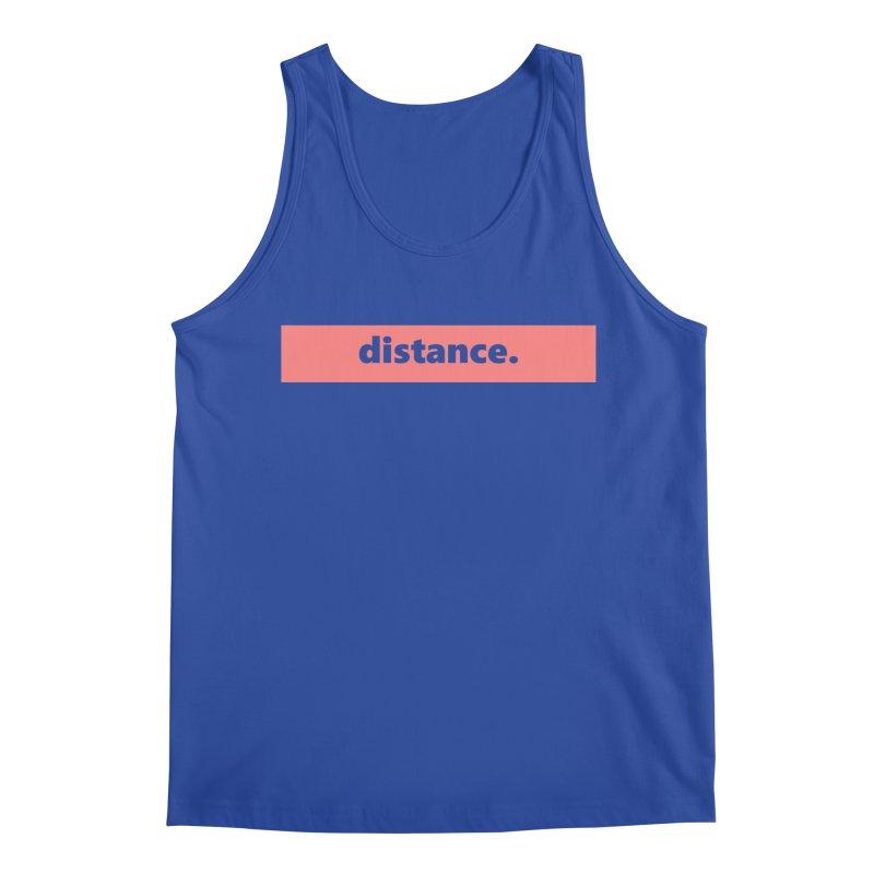 distance.  |  logo  |  light Men's Regular Tank by Extreme Toast's Artist Shop