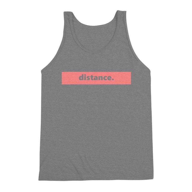 distance.  |  logo  |  light Men's Triblend Tank by Extreme Toast's Artist Shop