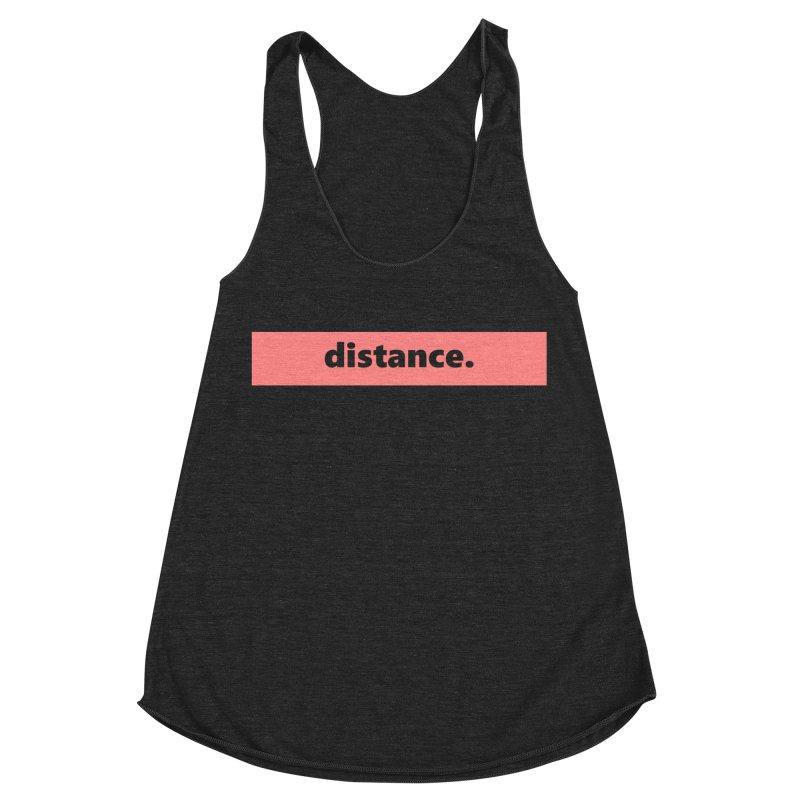 distance.  |  logo  |  light Women's Racerback Triblend Tank by Extreme Toast's Artist Shop