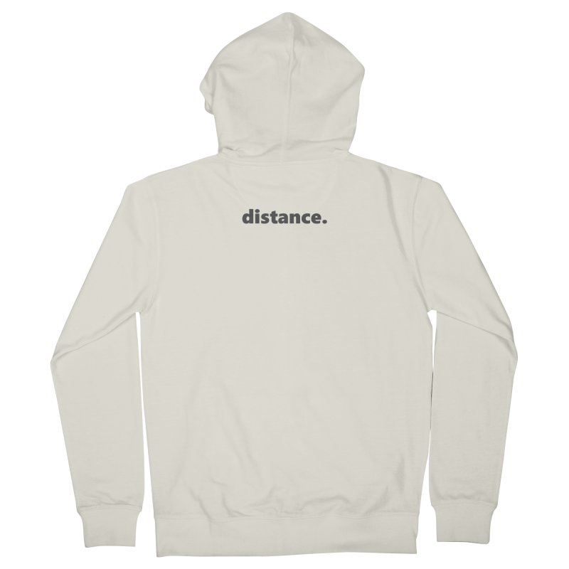 distance.  |  text  |  dark Men's French Terry Zip-Up Hoody by