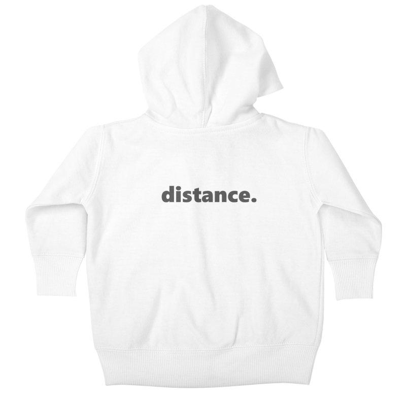 distance.     text     dark Kids Baby Zip-Up Hoody by