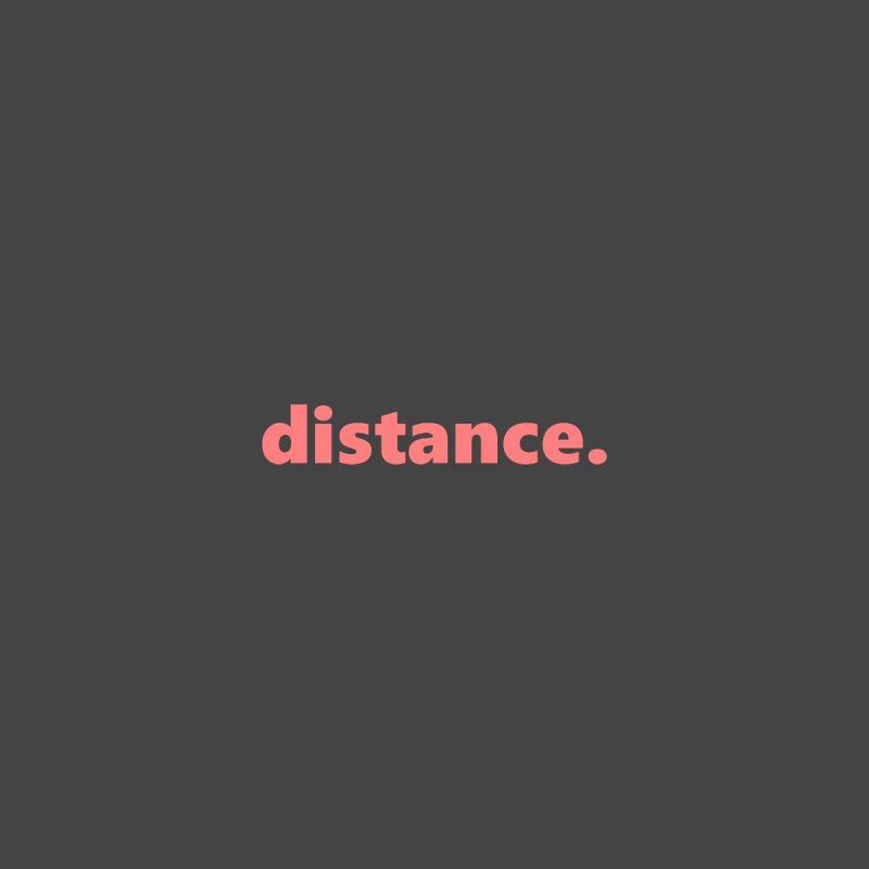 distance.  |  text  |  light Men's V-Neck by Extreme Toast's Artist Shop