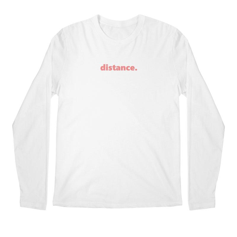 distance.  |  text  |  light Men's Regular Longsleeve T-Shirt by