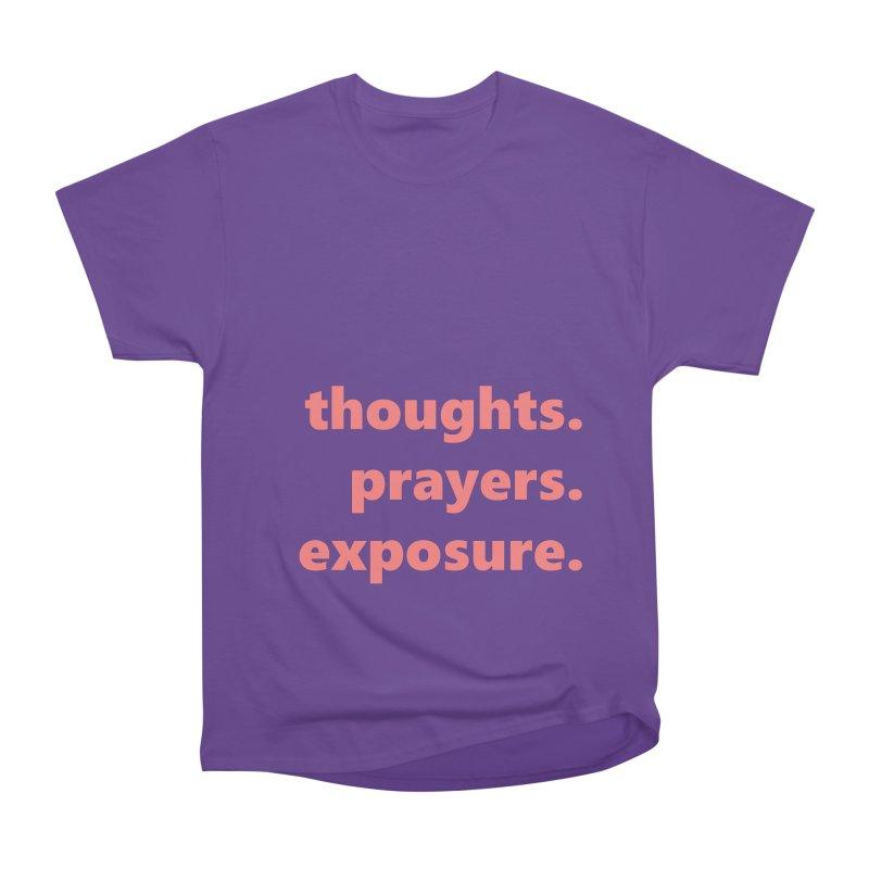 thoughts prayers exposure  |  text  |  light Women's Heavyweight Unisex T-Shirt by