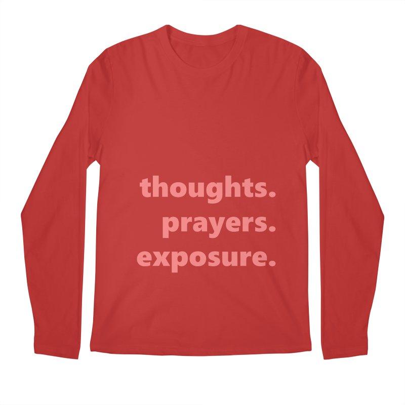 thoughts prayers exposure  |  text  |  light Men's Regular Longsleeve T-Shirt by Extreme Toast's Artist Shop