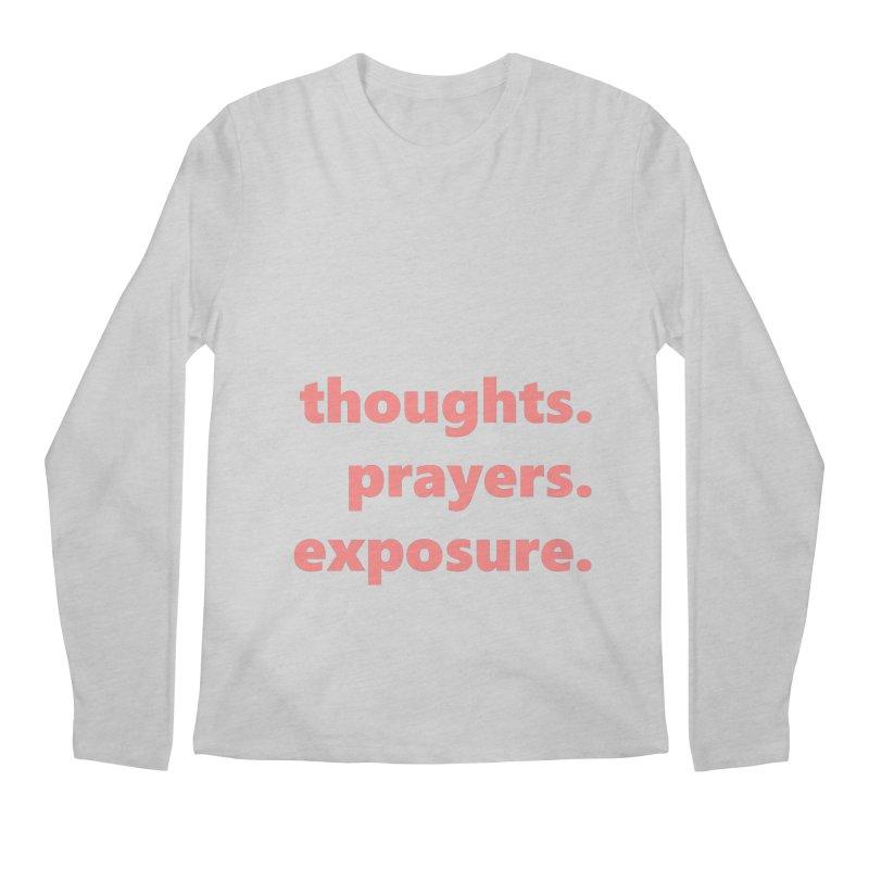 thoughts prayers exposure  |  text  |  light Men's Regular Longsleeve T-Shirt by
