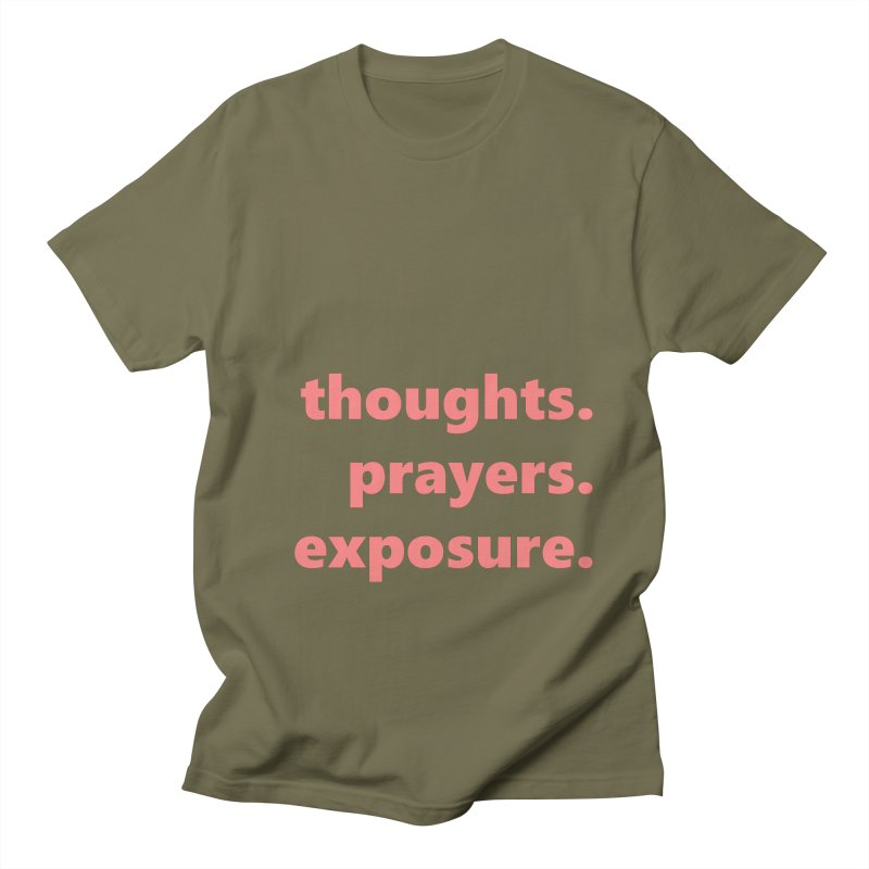 thoughts prayers exposure  |  text  |  light Men's Regular T-Shirt by