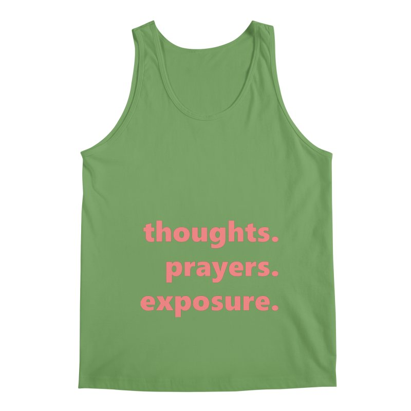 thoughts prayers exposure  |  text  |  light Men's Tank by Extreme Toast's Artist Shop