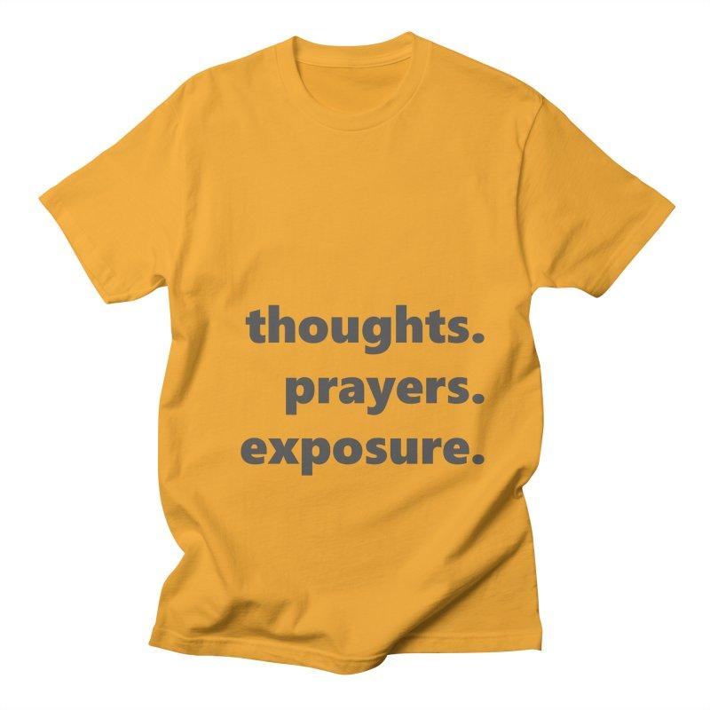 thoughts prayers exposure  |  text  |  dark Men's Regular T-Shirt by