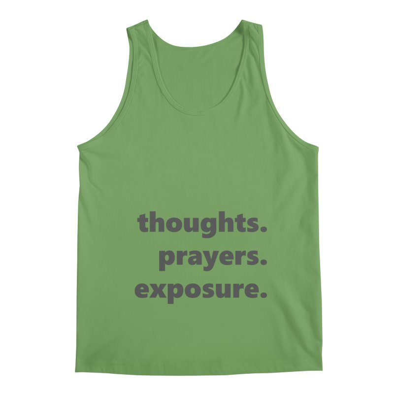 thoughts prayers exposure  |  text  |  dark Men's Tank by Extreme Toast's Artist Shop