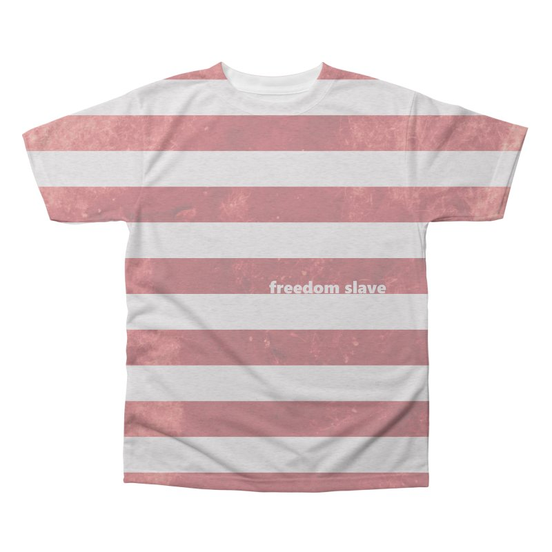 freedom slave  |  text  |  all-over design Men's Triblend All Over Print by Extreme Toast's Artist Shop