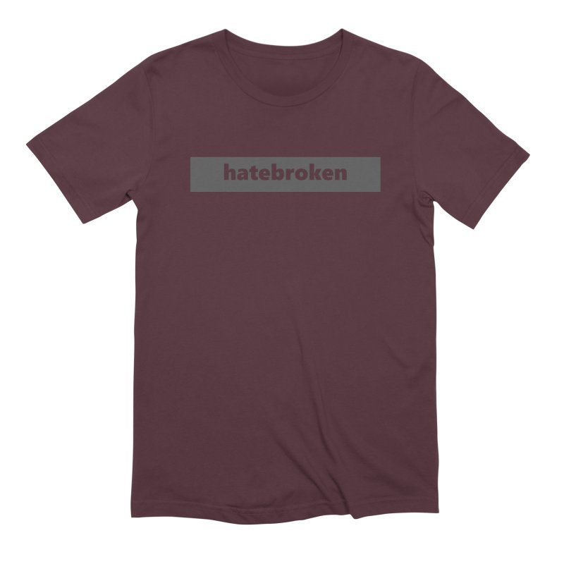 hatebroken  |  logo  |  dark Men's Extra Soft T-Shirt by